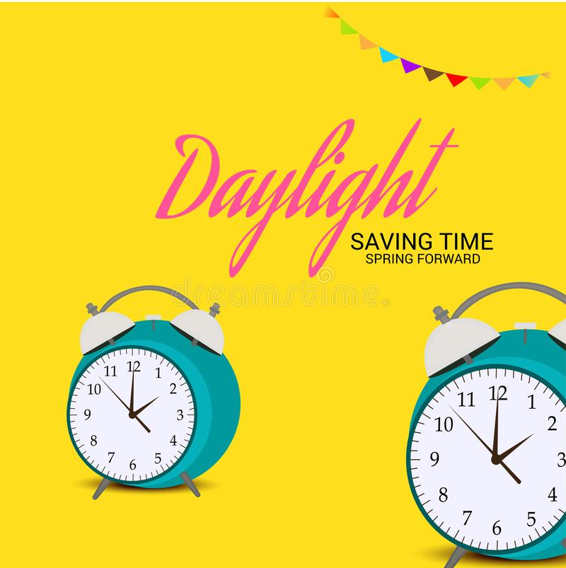 Światła dziennego oszczędzanie TimeSpring Naprzód royalty ilustracja