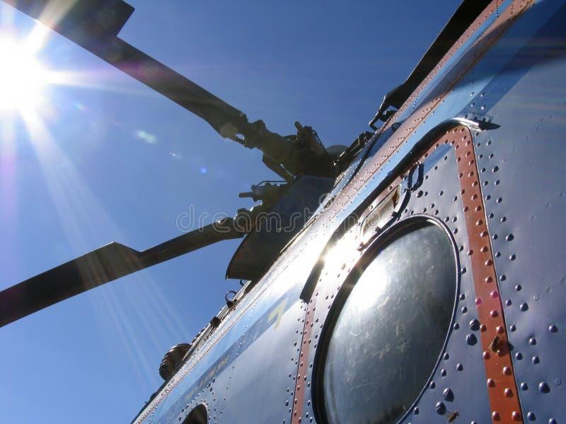 światła helikoptera słońce obraz stock