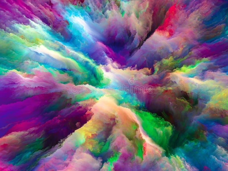 Światła kolor przestrzeń ilustracji