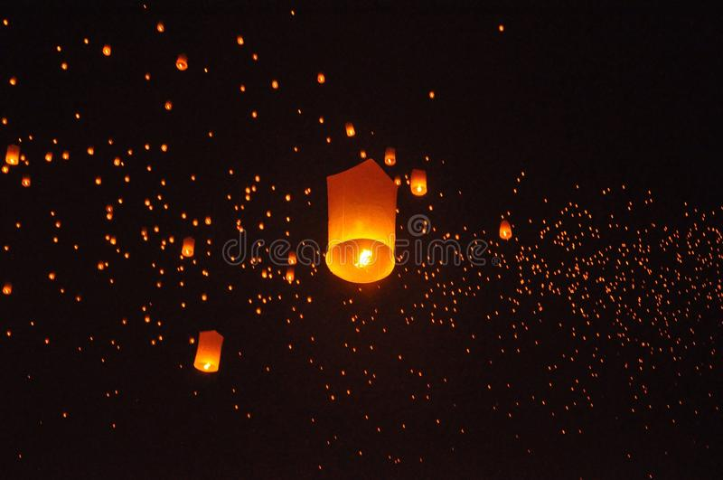 Światła na niebie fotografia stock
