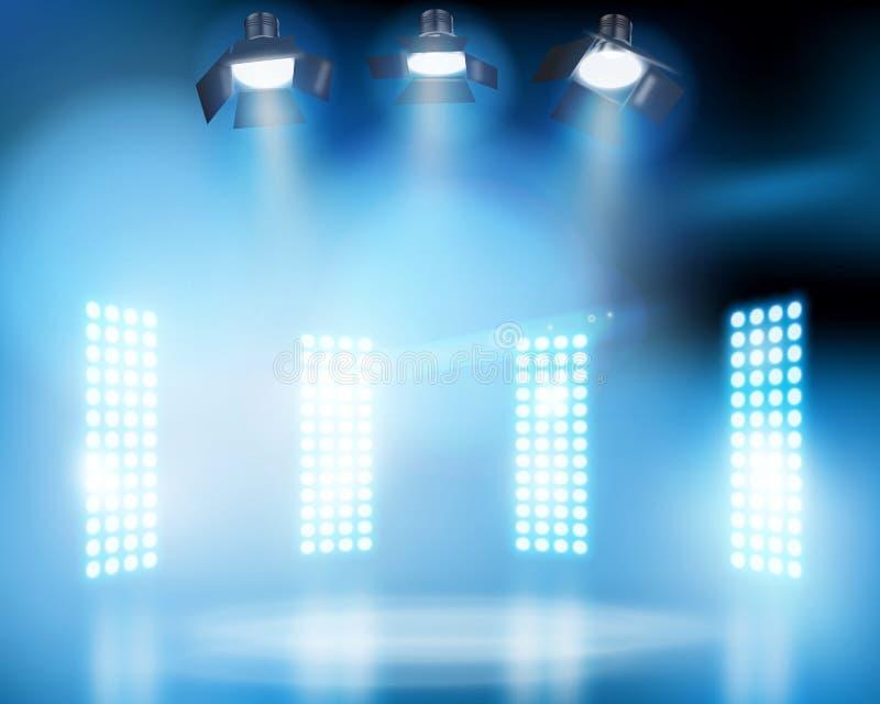 Światła na scenie również zwrócić corel ilustracji wektora royalty ilustracja