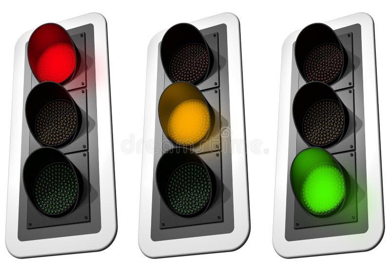 Download światła ruch drogowy ilustracji. Ilustracja złożonej z światła - 13331961