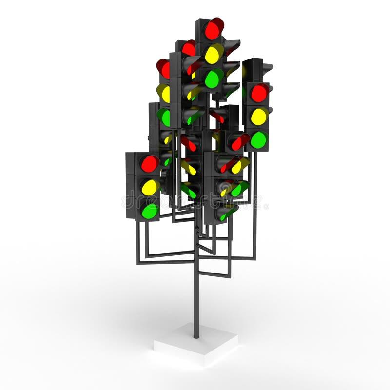światła ruch drogowy ilustracja wektor