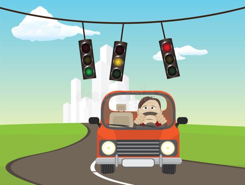 światła ruch drogowy ilustracji