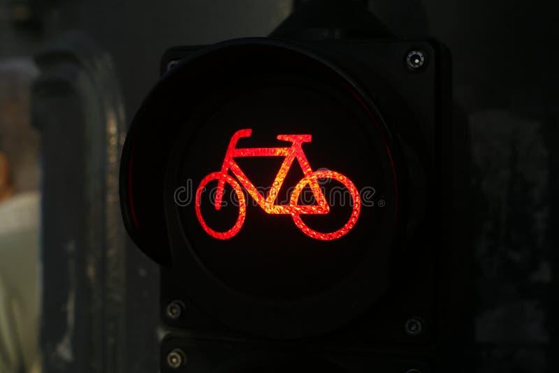 Światła ruchu dla cyklistów obrazy royalty free