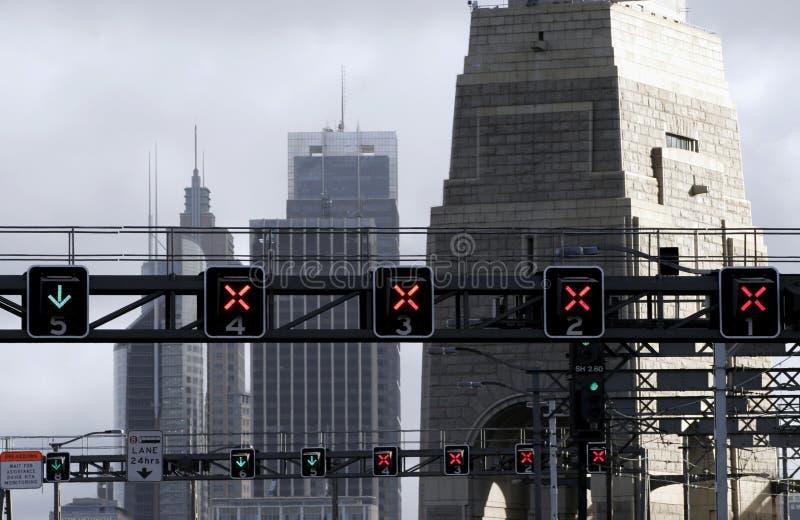 światła ruchu mostów obraz royalty free
