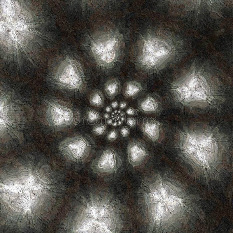 Światła ruszać się po spirali formację zdjęcie royalty free