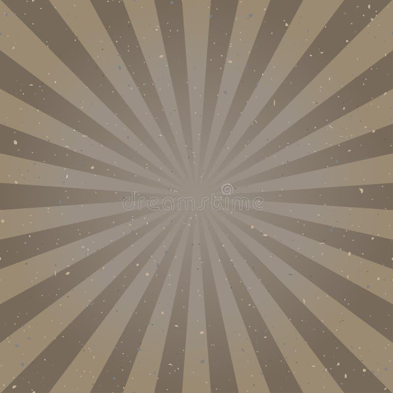 Światła słonecznego abstrakcjonistyczny tło z cząsteczkami gruzy cętkowany brown koloru wybuchu tło retro royalty ilustracja