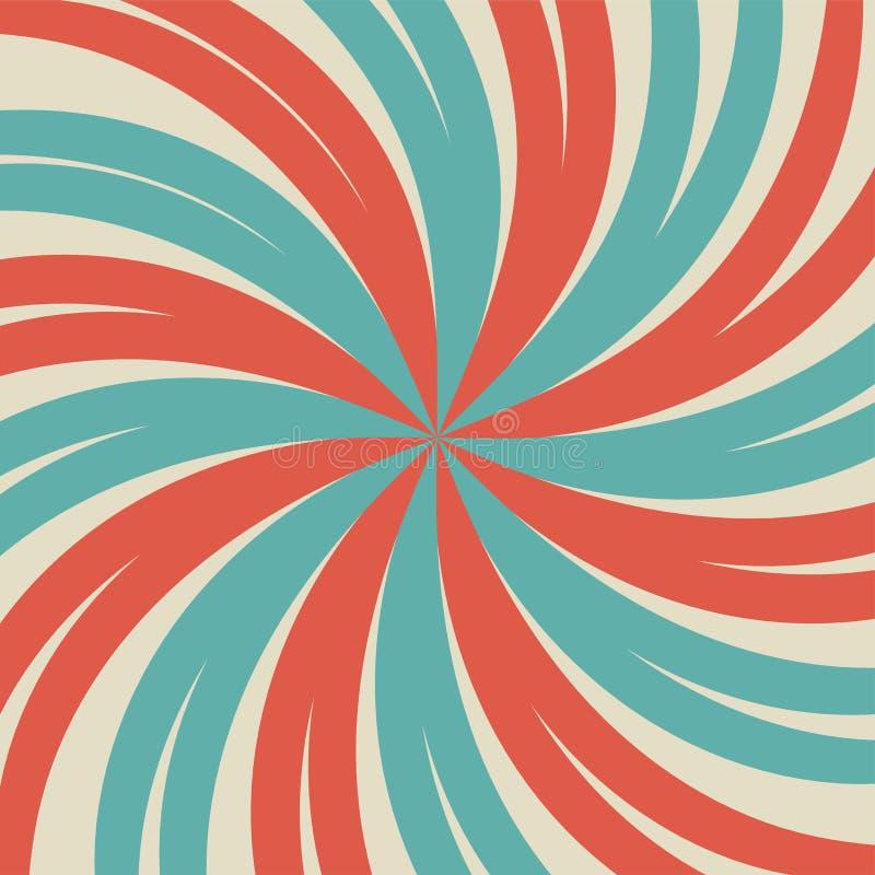 Światła słonecznego retro zatarty tło błękitnego i czerwonego koloru wybuchu tło ilustracji