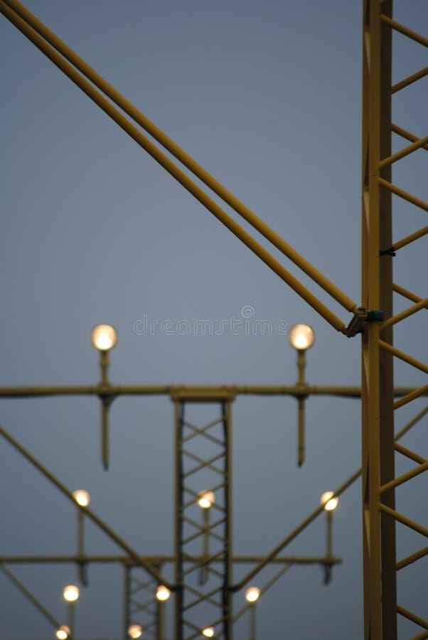 Światła w lądowanie śladzie zdjęcie stock