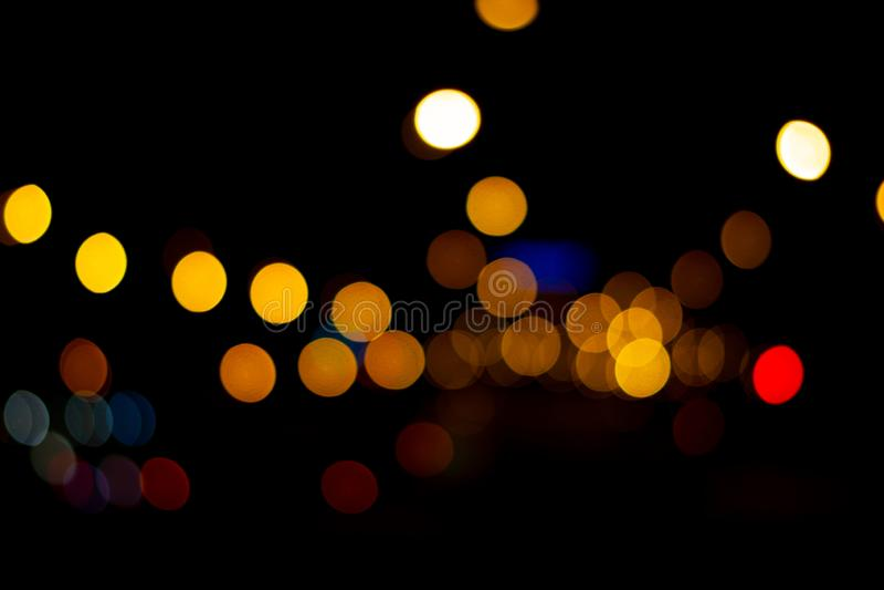 Światła w mieście z światłami zamazywali tło dla graficznego projekta ilustracji