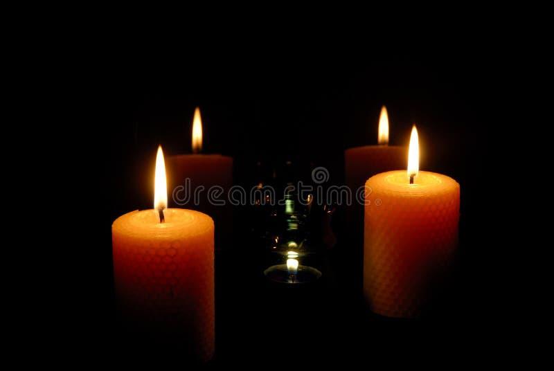 światło świece. zdjęcia royalty free