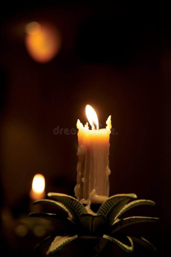 światło świece. zdjęcia stock