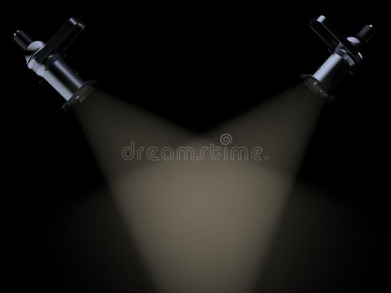 Światło 3 d ilustracja wektor