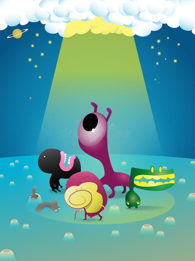 Download Światło ilustracji. Ilustracja złożonej z kreskówka, gwiazda - 57657669