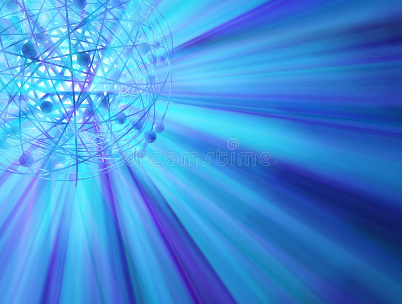 światło błękitny orbita ilustracja wektor