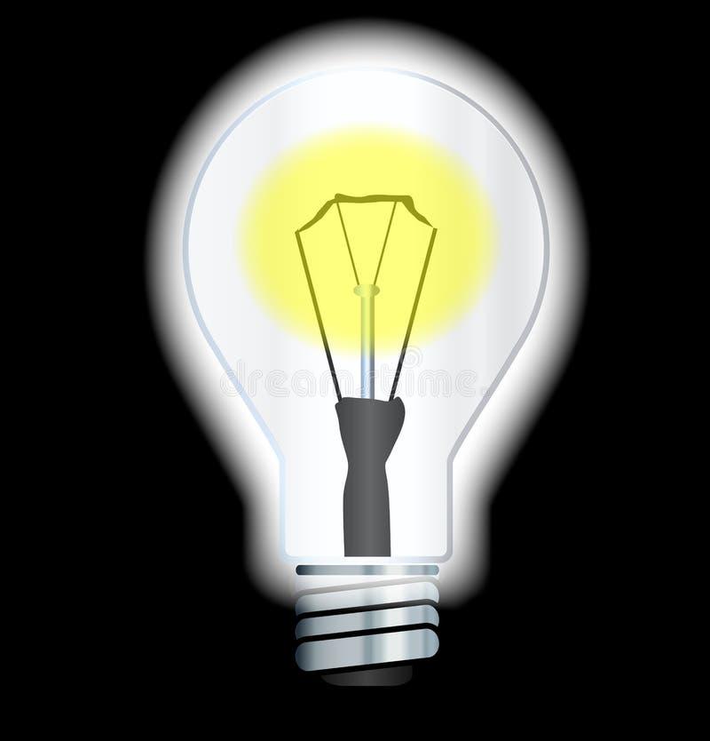 Światło Białe Wyłaczający Dalej ilustracji
