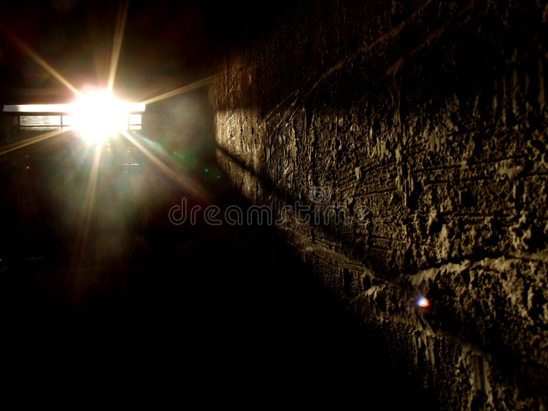 Światło ciemnego pokoju zdjęcia stock