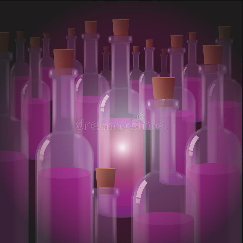Światło gronowy wino zdjęcia royalty free