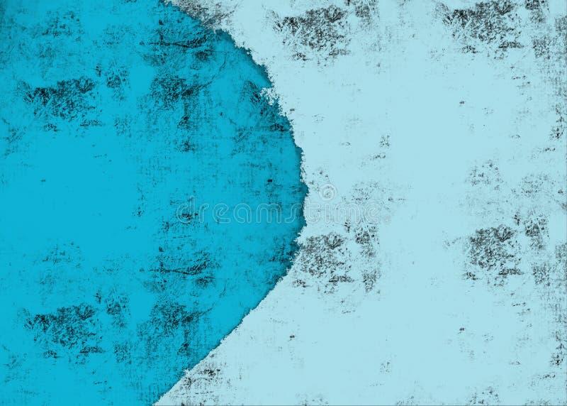 Światło i ciemny błękitny abstrakcjonistyczny obrazu tło ilustracji