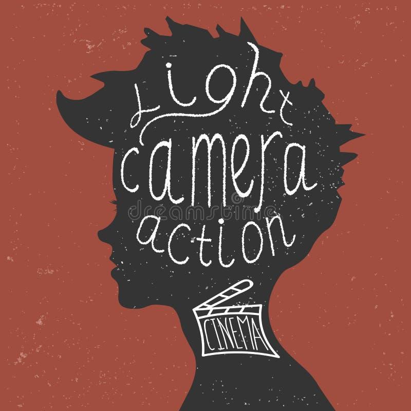 Światło, kamera, akcja! Pisać list royalty ilustracja