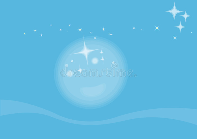 światło księżyca ilustracji