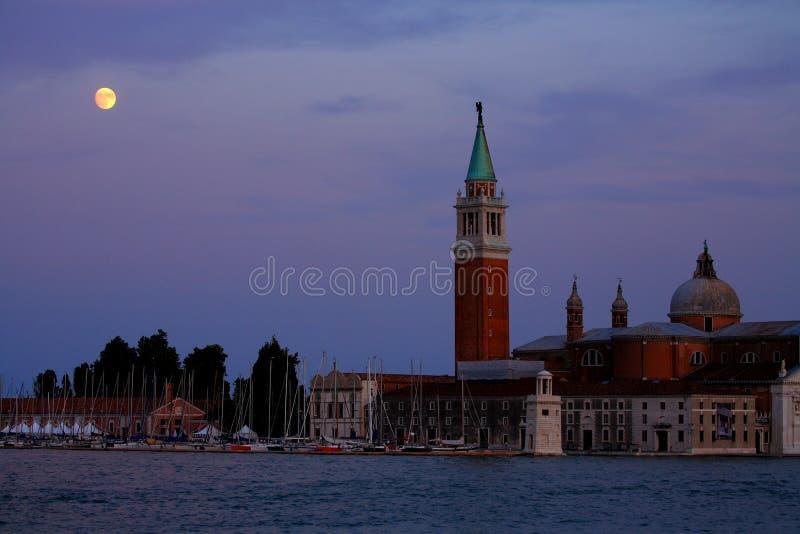światło księżyca Wenecji zdjęcia stock