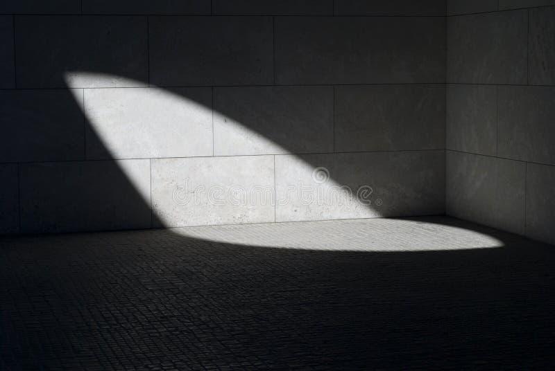 Światło na ścianie i podłoga obrazy stock