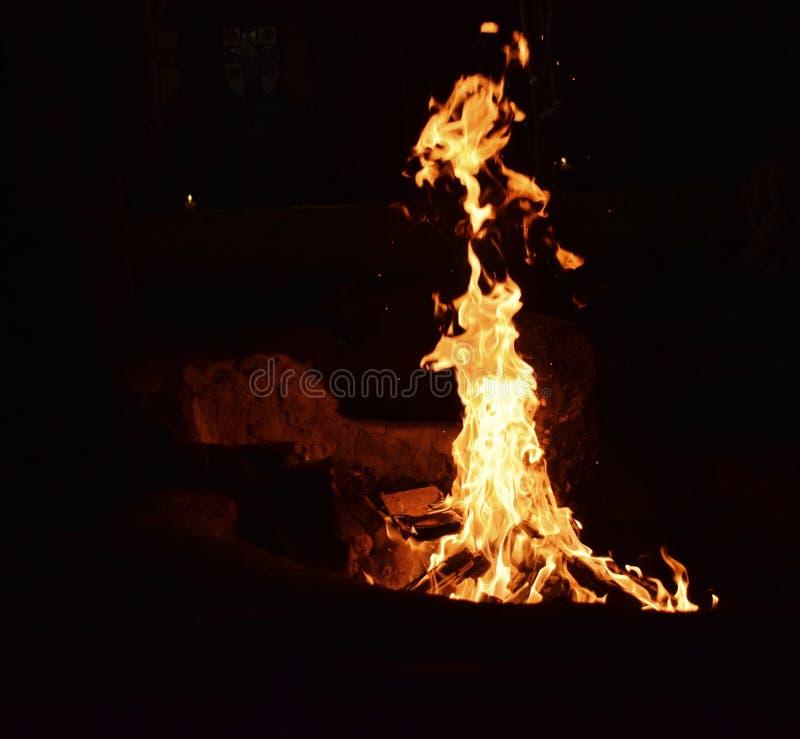 Światło od ogniska zdjęcie royalty free