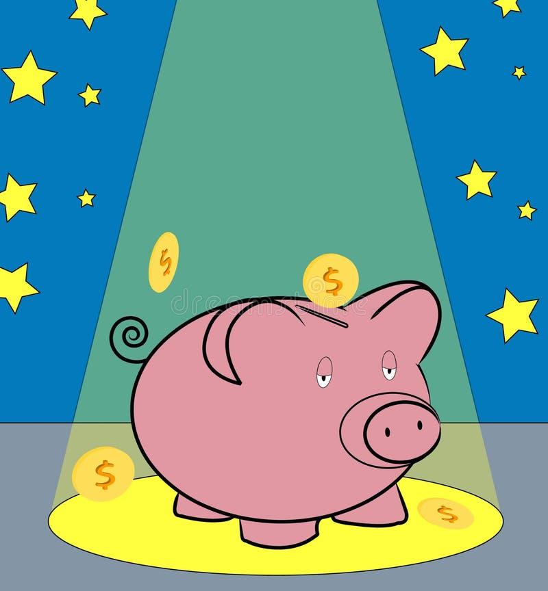 Światło pieniądze ilustracja wektor