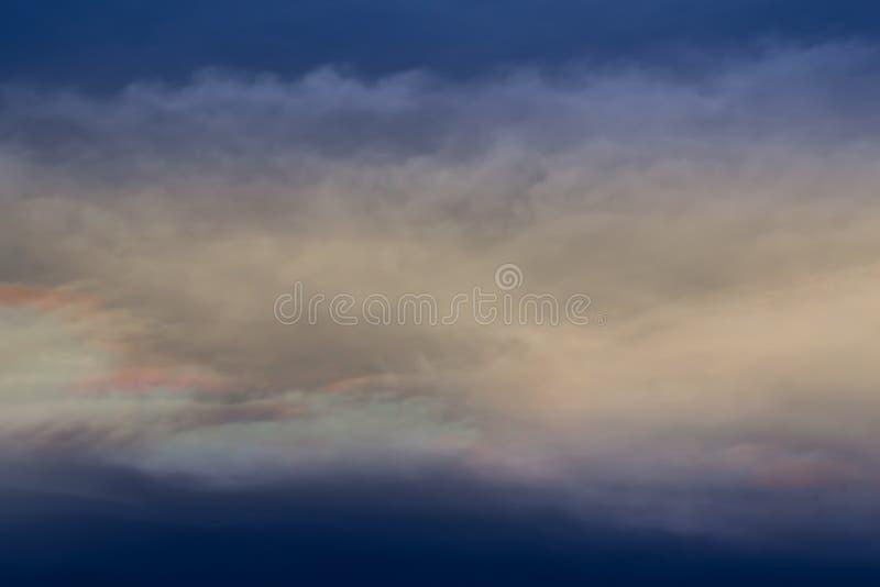 Światło po deszczu w wieczór powietrzu fotografia stock