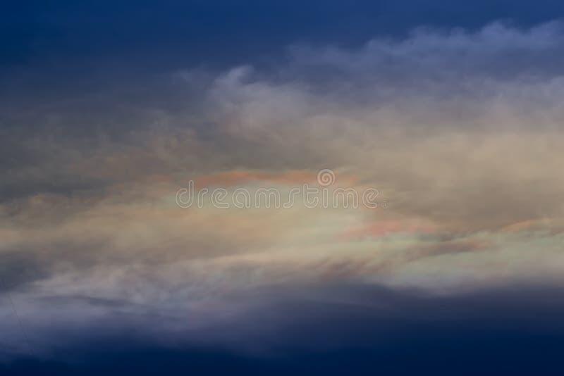 Światło po deszczu w wieczór powietrzu obraz stock