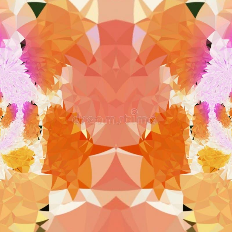 Światło - pomarańczowa Abstrakcjonistyczna cyfrowa sztuka z mnóstwo szczegółami ilustracji