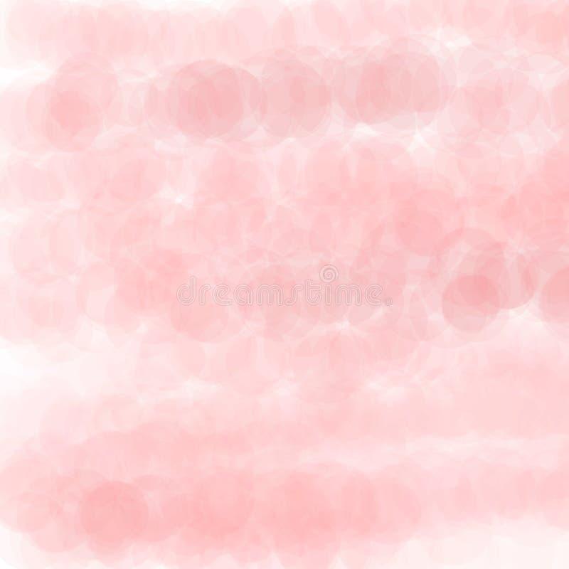 Światło - różowej przejrzystej akwareli okręgu abstrakcjonistyczny tło ilustracja wektor