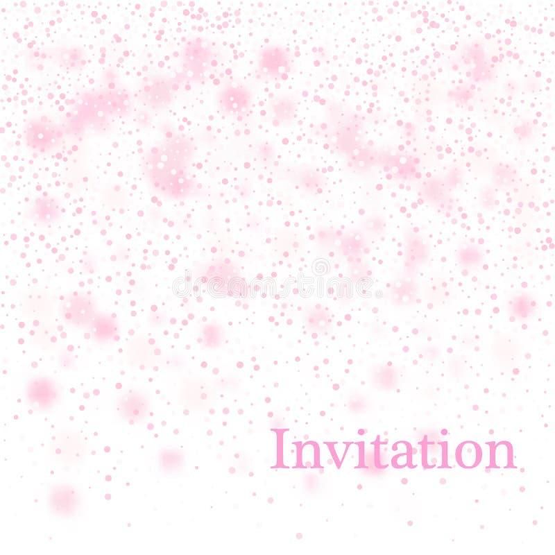 Światło - różowy abstrakcjonistyczny Bożenarodzeniowy tło z białymi płatek śniegu 10 tło projekta eps techniki wektor ilustracji