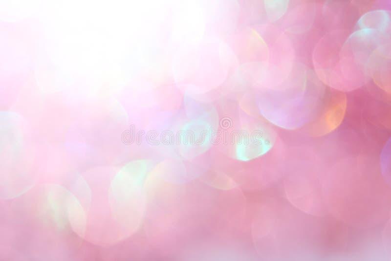 Światło - różowy miękkich świateł abstrakta tło ilustracji