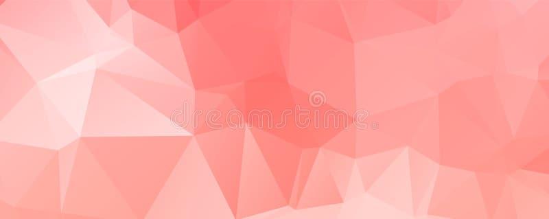 Światło - różowy wektorowy nowożytny geometryczny abstrakcjonistyczny tło, Multicolor, tęcza trójboka mozaiki wektorowy szablon royalty ilustracja