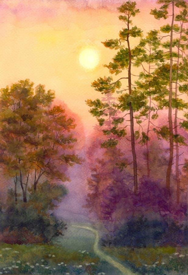 Światło ranku słońce royalty ilustracja