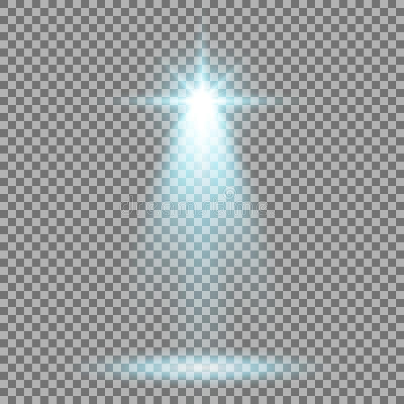 Światło reflektorów łuny skutek, lekki promień, aqua kolor ilustracji