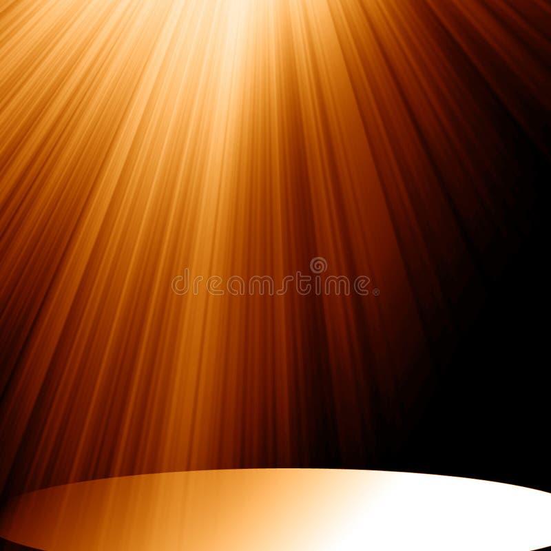 Światło reflektorów ilustracja wektor