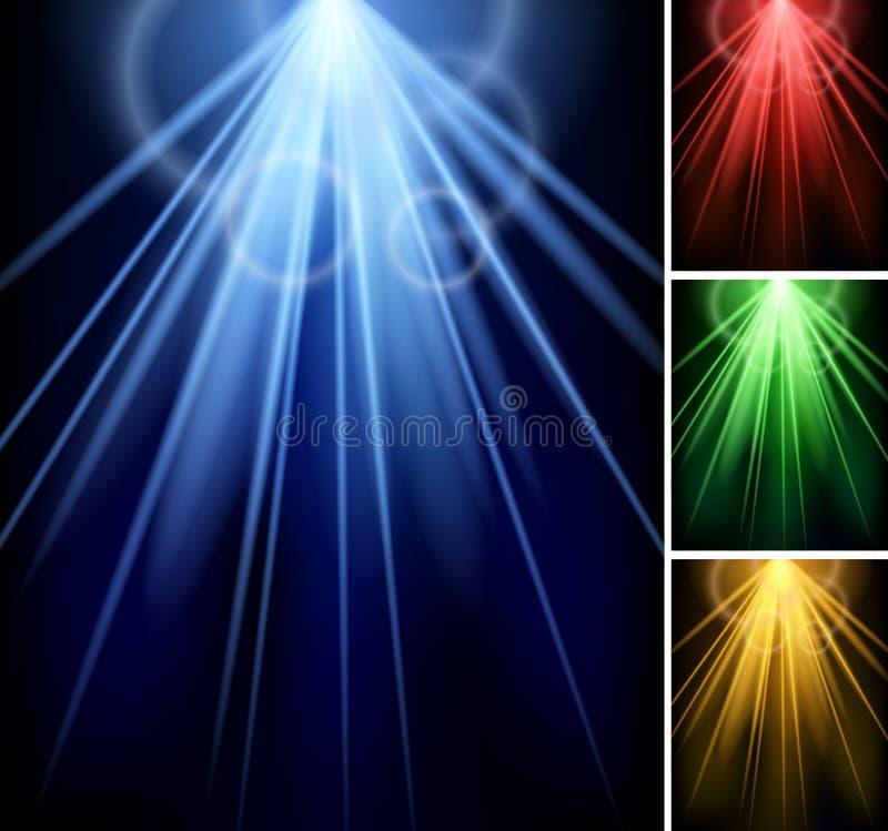 Światło reflektorów głównej atrakci tło ilustracji