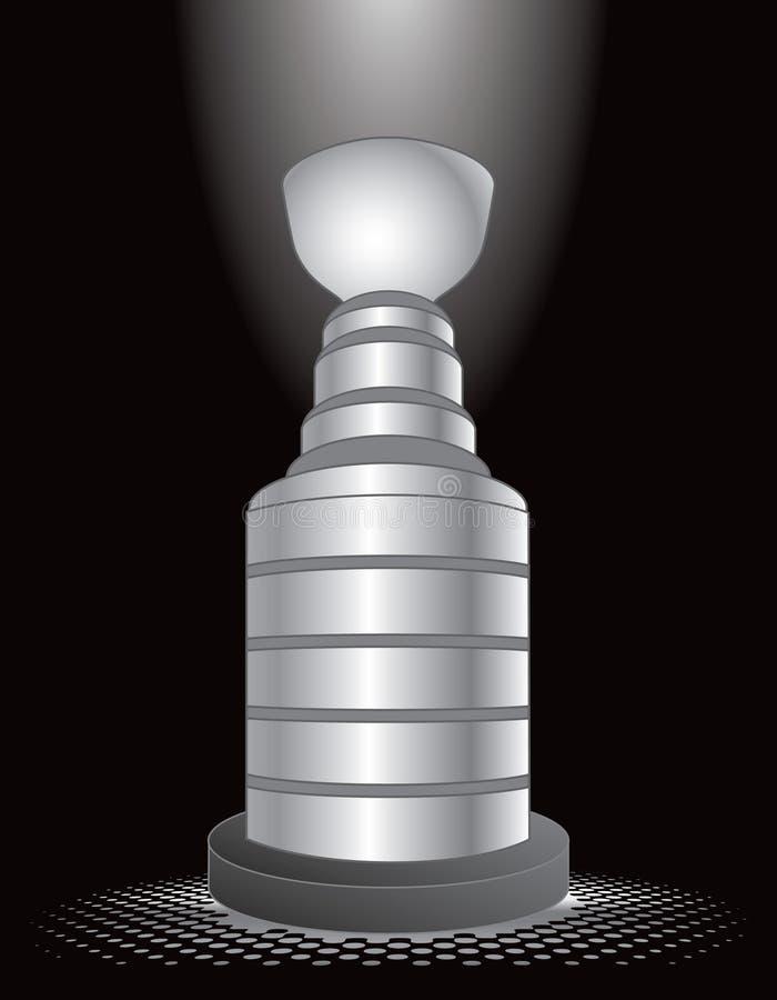 światło reflektorów hokejowy trofeum ilustracji