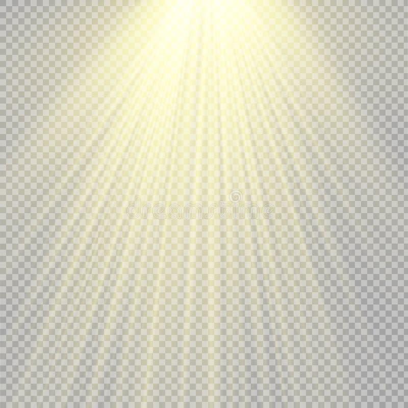 Światło reflektorów sceny lekcy skutki również zwrócić corel ilustracji wektora royalty ilustracja