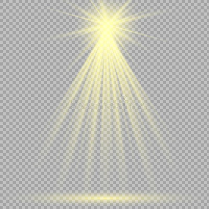 Światło reflektorów sceny lekcy skutki również zwrócić corel ilustracji wektora ilustracja wektor