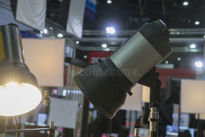 Światło reflektorów srebro dla fotografii fotografia royalty free