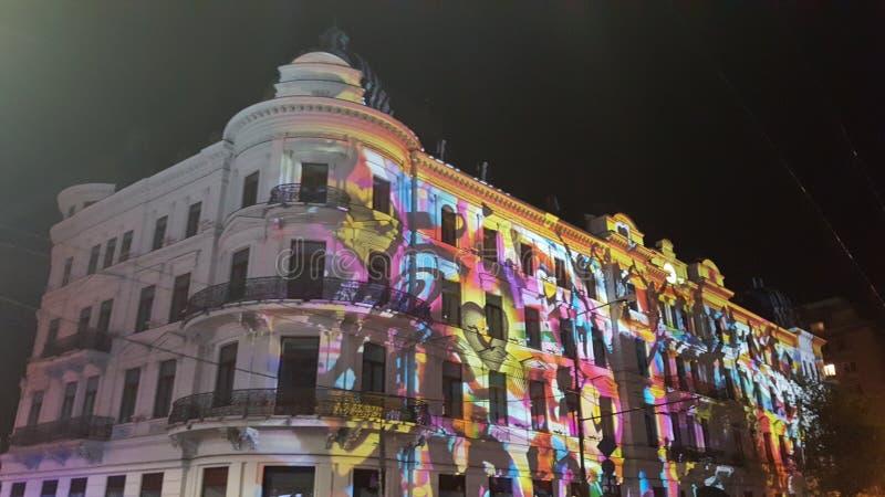 Światło reflektorów wydanie w Bucharest fourth fotografia stock