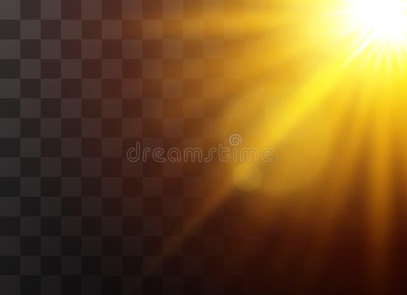 Światło słoneczne lekcy skutki zdjęcie stock