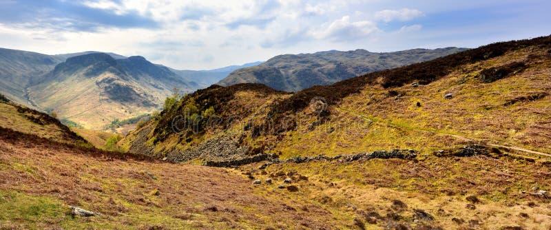 Światło słoneczne na Eagle Crag zdjęcie royalty free