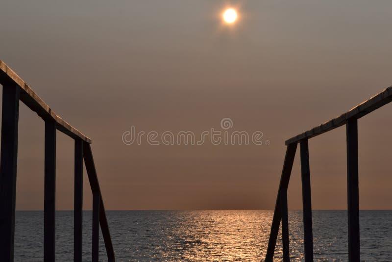 Światło słoneczne nad morzem bałtyckim zdjęcie stock
