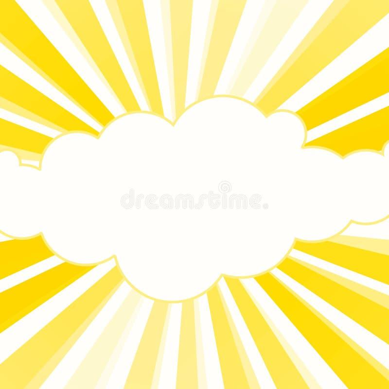 Światło słoneczne promieni koloru żółtego rama ilustracji